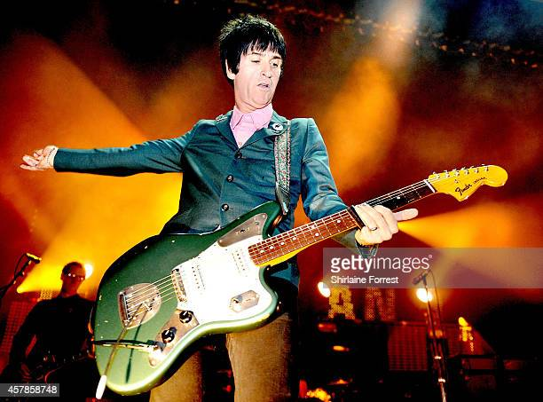 Johnny Marr performs at 02 Apollo Manchester on October 25 2014 in Manchester England