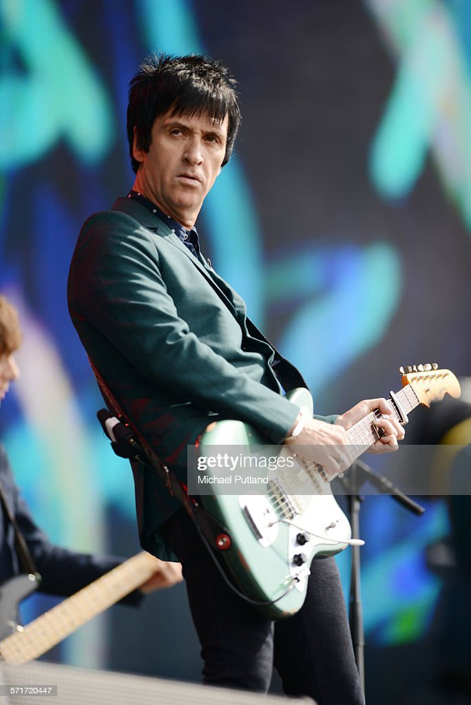 Johnny Marr performs at the Barclaycard British Summertime gigs at Hyde Park on June 26, 2015 in London, England.