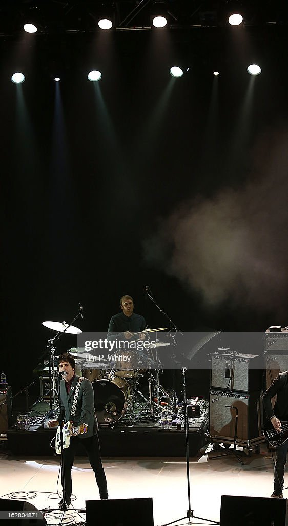 Johnny Marr performs at the NME Awards 2013 at the Troxy on February 27, 2013 in London, England.