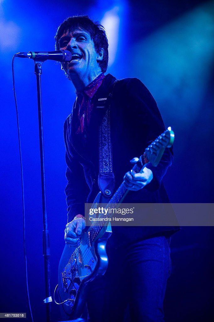 Johnny Marr performs for fans during Splendour in the Grass on July 24, 2015 in Byron Bay, Australia.
