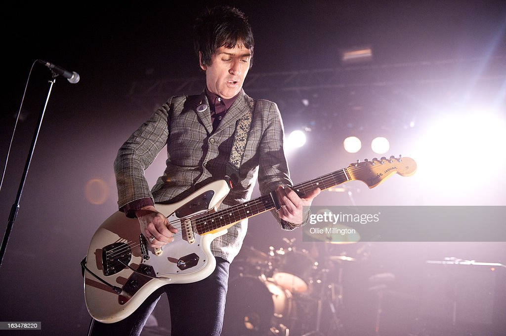 Johnny Marr performs on stage on the opening night of his first tour as a solo artist on March 10, 2013 in Oxford, England.