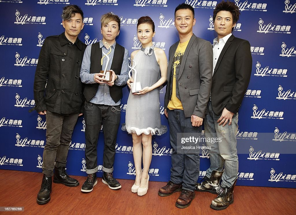Johnny, Masaki, Mag Lam, Deep and Ryan of 'Closer' at the 2013 IFPI Hong Kong Top Sales Music Awards at Star Hall on February 26, 2013 in Hong Kong, Hong Kong.