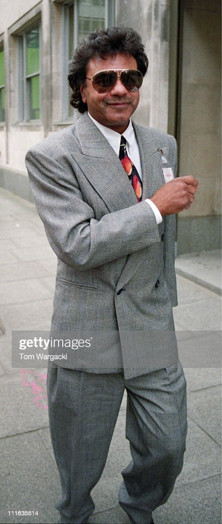 Johnny Mathis during Johnny Mathis Arrives at Gloria Hunniford's Radio Show in 1991 at BBC Broadcasting House in London Great Britain