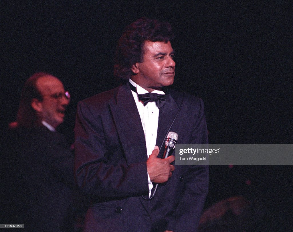 Johnny Mathis during Johnny Mathis in concert at Bournemouth BIC March 30 1991 at BIC in Bournemouth Great Britain
