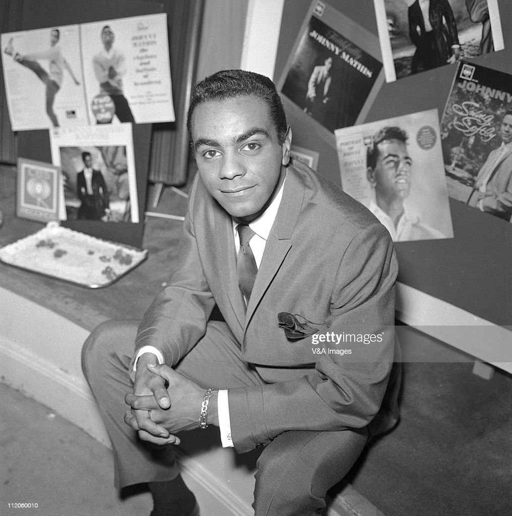 Johnny Mathis posed 1958