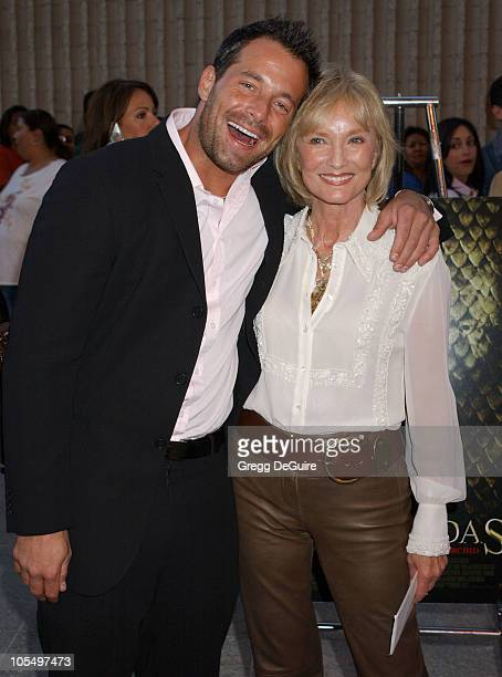 Johnny Messner and mom Flora during 'Anacondas The Hunt For The Blood Orchid' Los Angeles Screening at Avco Cinema in Westwood California United...