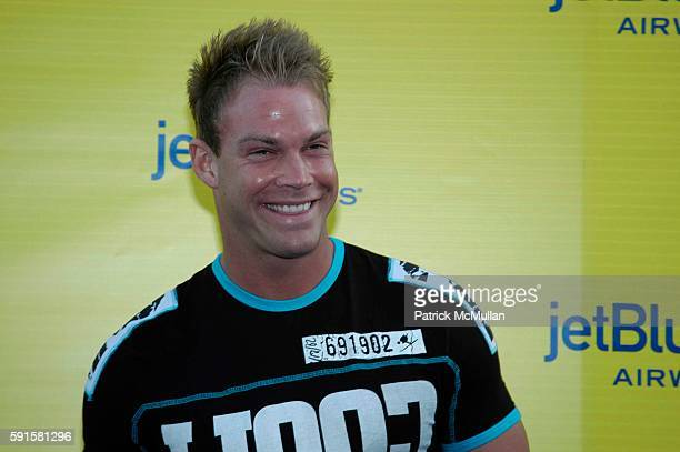Johnny Messner attends JetBlue Airways' launch event in Los Angeles at Warner Brothers STudios on June 13 2005 in Burbank CA