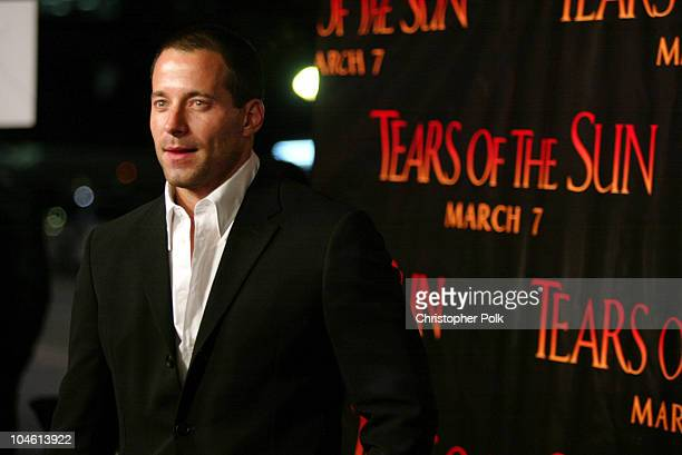 Johnny Messner during 'Tears Of The Sun' Special Screening Arrivals at Mann's Village in Westwood CA United States