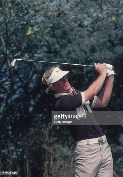Johnny Miller of the USA on his way to winning the British Open in July 1976 at the Royal Birkdale Golf Club in Southport England