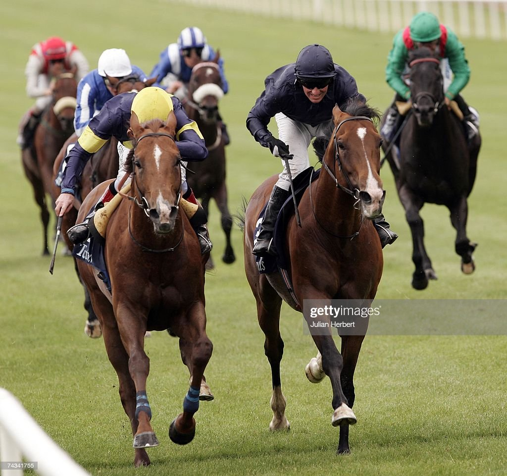 Johnny Murtagh and Notnowcato get the better of the Seamus Hefferman ridden Dylan Thomas to land The Tattersalls Gold Cup Race run at The Curragh...