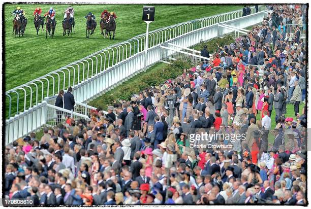 Johnny Murtagh riding Extortionist wins the Windsor Castle Stakes during day one of Royal Ascot at Ascot Racecourse on June 18 2013 in Ascot England