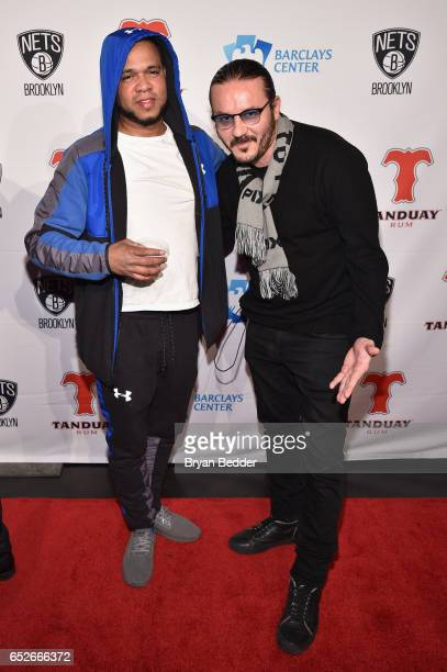 Johnny Nunez and Alberto Polo attend the Tanduay Rum partnership with Barclays Center and the Brooklyn Nets celebration on March 12 2017 in New York...