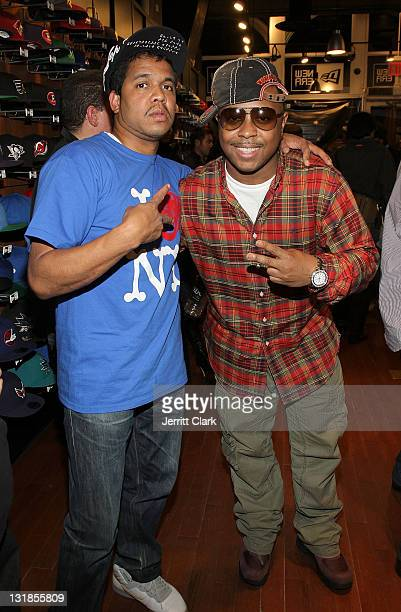 Johnny Nunez and DJ Webstar attend Johnny Nunez New Era Cap Launch at New Era Flagship Store on December 1 2010 in New York City