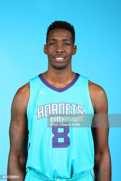 Johnny O'Bryant III of the Charlotte Hornets poses for a head shot during media day at Spectrum Center in Charlotte North Carolina NOTE TO USER User...