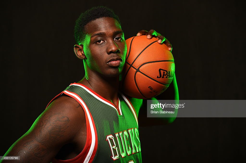 Johnny O'Bryant #3 of the Milwaukee Bucks poses for a portrait during the 2014 NBA rookie photo shoot on August 3, 2014 at the Madison Square Garden Training Facility in Tarrytown, New York.