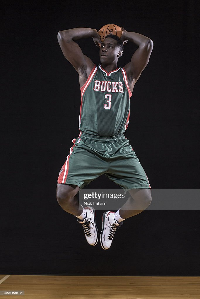 Johnny O'Bryant #3 of the Milwaukee Bucks poses for a portrait during the 2014 NBA rookie photo shoot at MSG Training Center on August 3, 2014 in Tarrytown, New York.