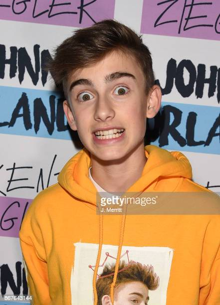 Johnny Orlando poses during a meet and greet on the 'Day NIght' tour at Mr Smalls on October 28 2017 in Millvale Pennsylvania