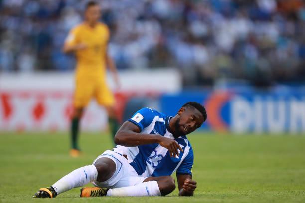 77ee3bf8969 Johnny Palacios of Honduras reacts during a first leg match between Honduras  and Australia as part