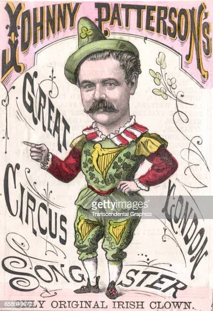 Johnny Patterson advertises his circus with this booklet cover London England circa 1890