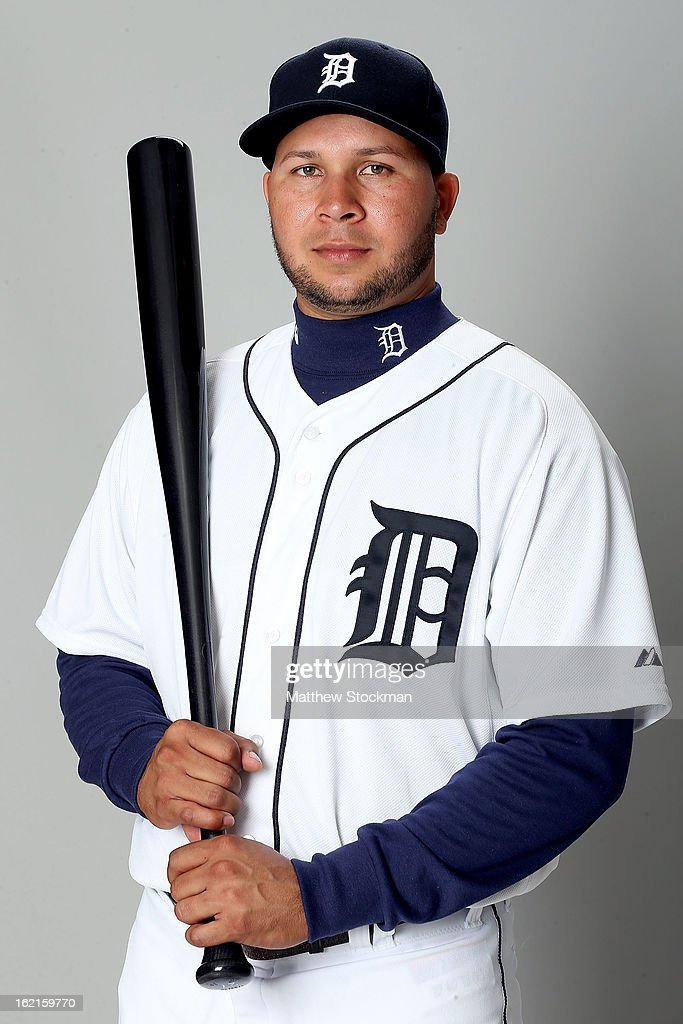 Johnny Peralta of the Detroit Tigers poses for a portrait on February 19, 2013 in Lakeland, Florida.