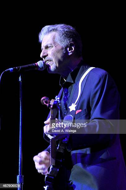 Johnny Rivers performs at the 50th Anniversary Celebration Of 'When Rock And Blues Hit The Sunset Strip' at Saban Theatre on January 15 2014 in...