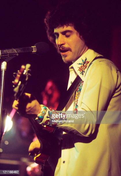 Johnny Rivers performs on stage London 1974