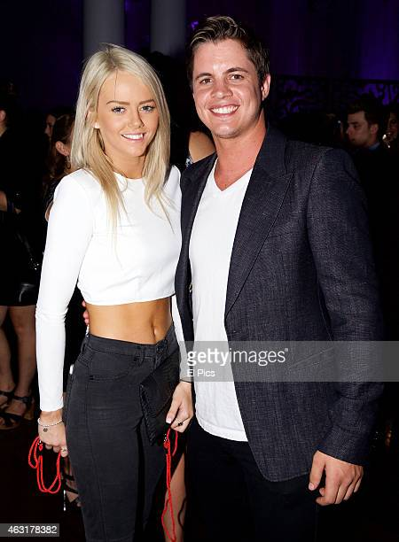 Johnny Ruffo and Tahnee attend the 50 Shades of Grey Premiere at EQ Sydney on February 11 2015 in Sydney Australia