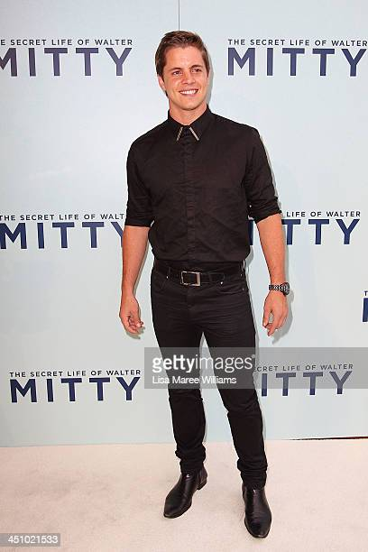 Johnny Ruffo arrives at the Australian Premiere of The Secret Life of Walter Mitty at Sydney Entertainment Centre on November 21 2013 in Sydney...