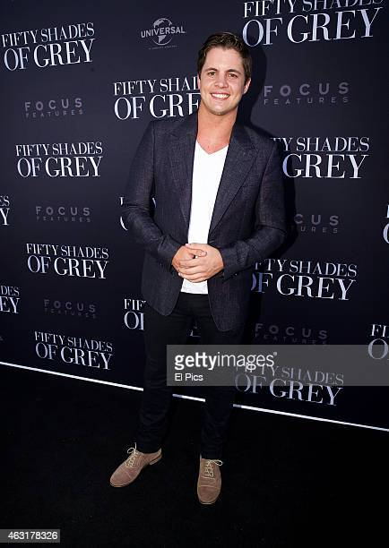 Johnny Ruffo attends the 50 Shades of Grey Premiere at EQ Sydney on February 11 2015 in Sydney Australia