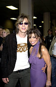 Johnny Rzeznik and Paula Abdul during The 30th Annual American Music Awards Audience and Backstage at Shrine Auditorium in Los Angeles California...