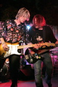 Johnny Rzeznik and Robby Takac Goo Goo Dolls during Entertainment Tonight Emmy Party Sponsored by People Magazine Inside at The Mondrian in West...