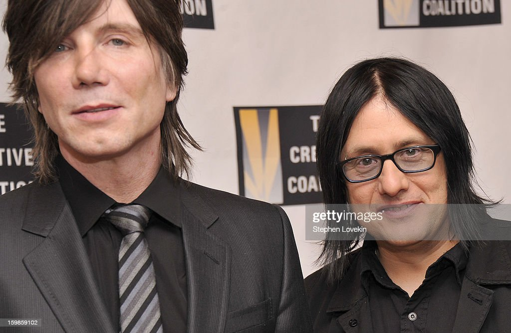 Johnny Rzeznik and Robby Takac of the band Goo Goo Dolls attend The Creative Coalition's 2013 Inaugural Ball at the Harman Center for the Arts on January 21, 2013 in Washington, United States.
