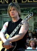 Johnny Rzeznik during The 'Today' Show's 2003 Summer Concert Series Goo Goo Dolls at Rockefeller Plaza in New York City New York United States