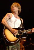 Johnny Rzeznik of the Goo Goo Dolls during Goo Goo Dolls in Concert at the Staples Center at Staples Center in Los Angeles California United States