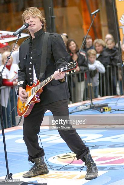 Johnny Rzeznik of the Goo Goo Dolls during Goo Goo Dolls Perform on the 'Today' Show October 10 2005 at 'Today' Show Studios in New York City New...