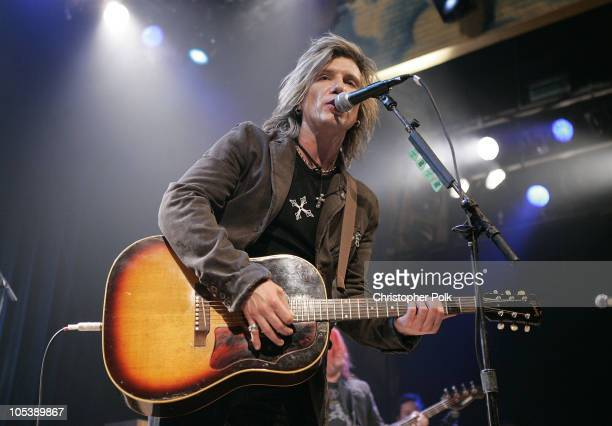 Johnny Rzeznik of the Goo Goo Dolls during Words and Music in Honor of 'Fahrenheit 9/11' at House of Blues in Hollywood California United States