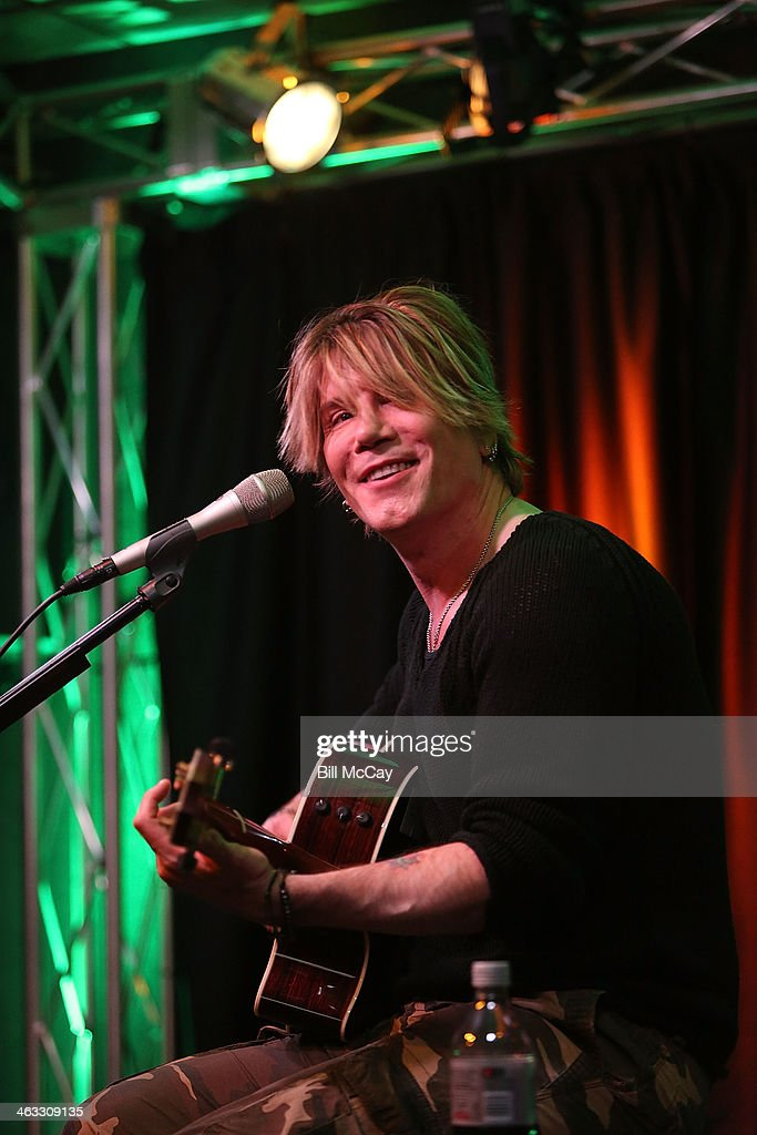 Johnny Rzeznik performs during a studio session at Mix 1061 Performance Theater January 17 2014 in Bala Cynwyd Pennsylvania