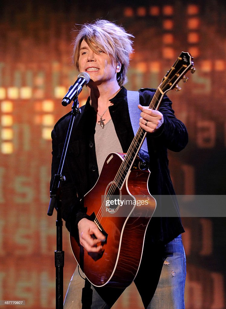 Johnny Rzeznik performs onstage on FOX's 'The X Factor' Season 3 Top 3 Live Finale Performance Show on December 18 2013 in Hollywood California