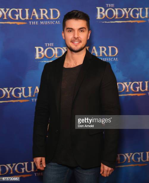 Johnny Schembri arrives ahead of opening night of The Bodyguard The Musical at Lyric Theatre Star City on April 27 2017 in Sydney Australia