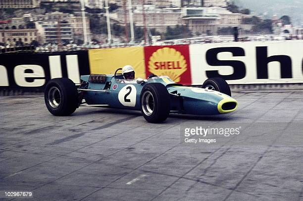 Johnny Servoz Gavin drives the Matra Sports Matra MS7 Ford Cosworth during the Grand Prix of Monaco on 7 May 1967 on the streets of the Principality...
