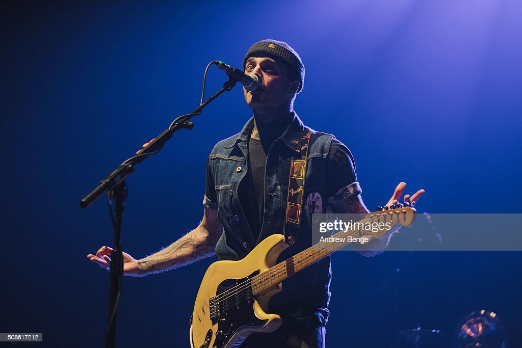 Johnny Stevens of Highly Suspect performs at First Direct Arena on February 5, 2016 in Leeds, England.