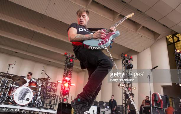 Johnny Stevens of Highly Suspect performs during the 2017 Lollapalooza Day Three at Grant Park on August 5 2017 in Chicago Illinois