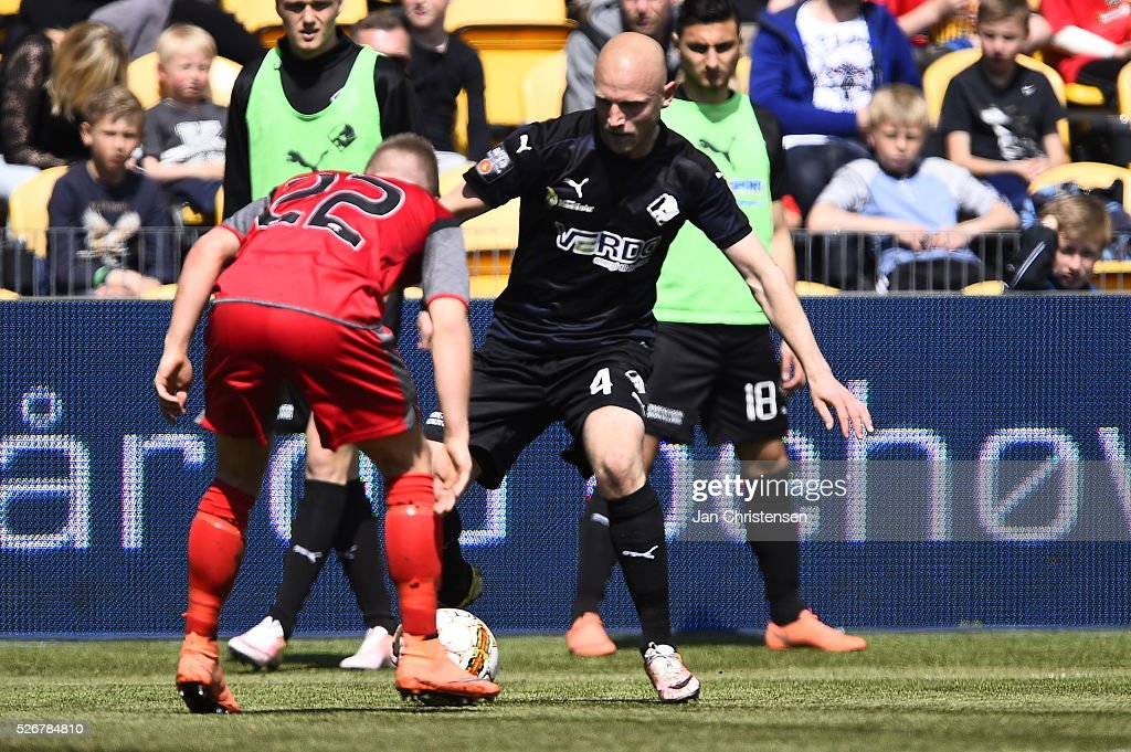 Action from the Danish Alka Superliga match between FC Nordsjalland and Randers FC at Right to Dream Park on May 01, 2016 in Farum, Denmark.