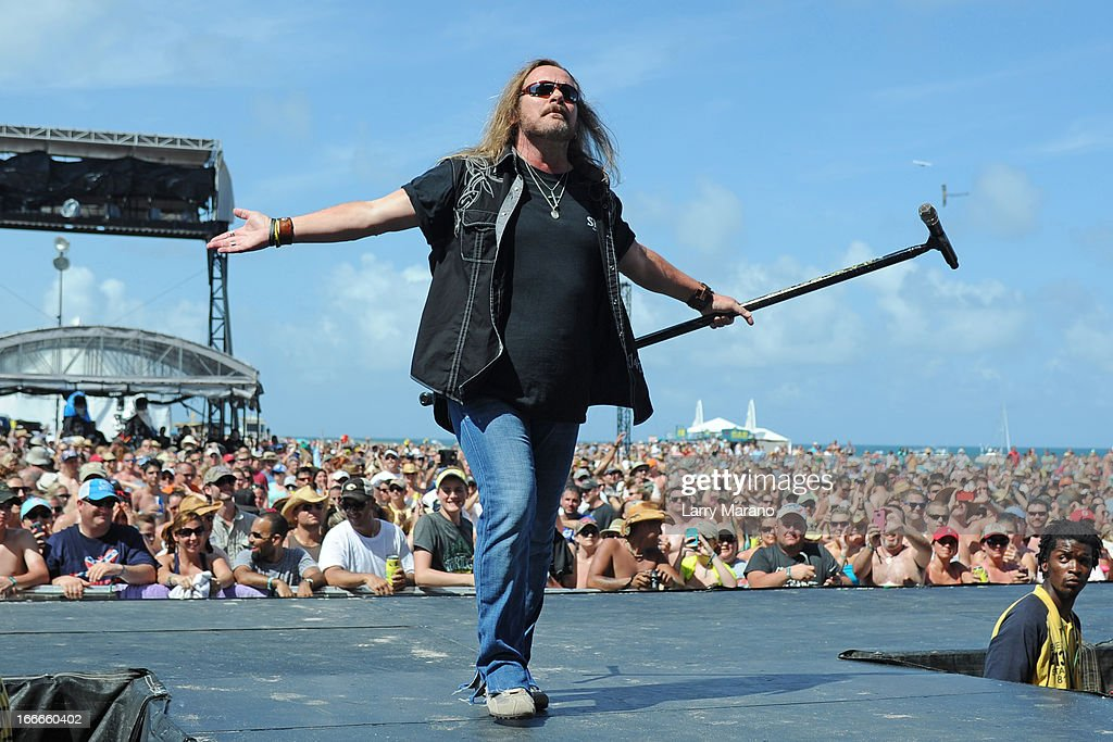 Johnny Van Zant of Lynyrd Skynyrd performs during the Rock The Oceans Tortuga Festival on April 14, 2013 in Fort Lauderdale, Florida.