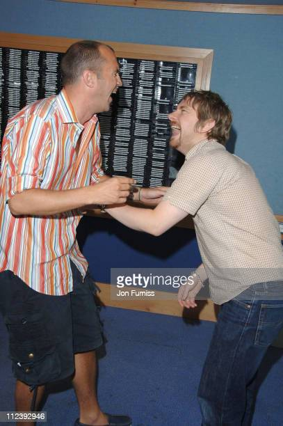 Johnny Vaughan and Martin Freeman during Capital's Help a London Child Weekend July 2123 2006 at Capital Radio in London Great Britain