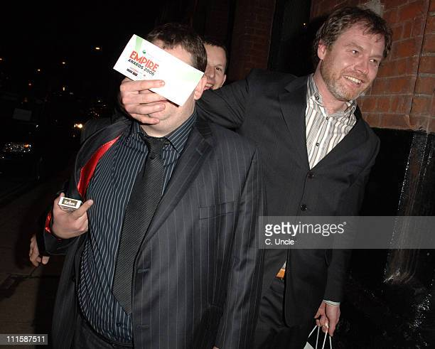 Johnny Vegas and guest during Sony Ericsson Empire Film Awards 2006 After Show Party at Cobden Club in London Great Britain