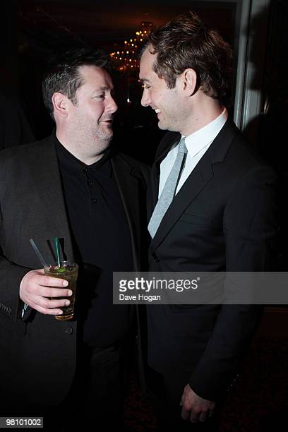 Johnny Vegas and Jude Law attend the Jameson Empire Film Awards 2010 held at the Grosvenor House Hotel on March 28 2010 in London England