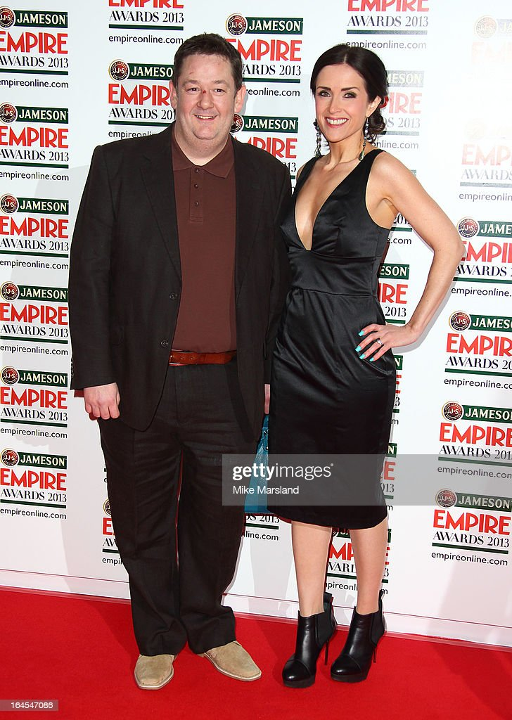 Johnny Vegas and Maia Dunphy attend the 18th Jameson Empire Film Awards at Grosvenor House, on March 24, 2013 in London, England.