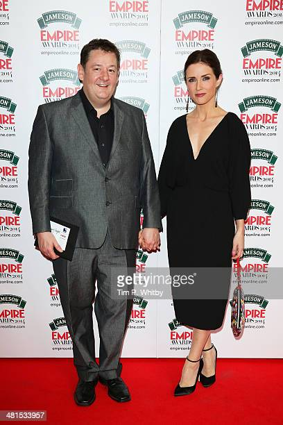 Johnny Vegas and Maia Dunphy attend the Jameson Empire Awards 2014 at the Grosvenor House Hotel on March 30 2014 in London England Regarded as a...