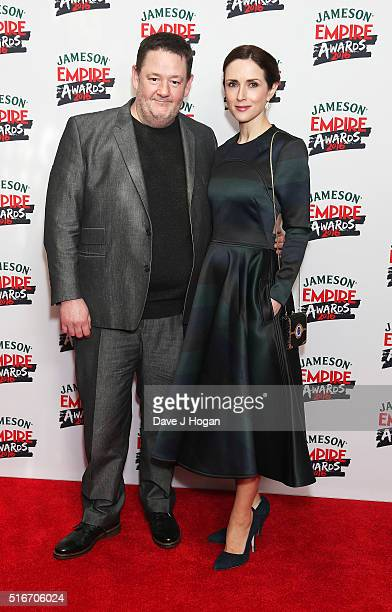 Johnny Vegas and Maia Dunphy attend the Jameson Empire Awards 2016 at The Grosvenor House Hotel on March 20 2016 in London England